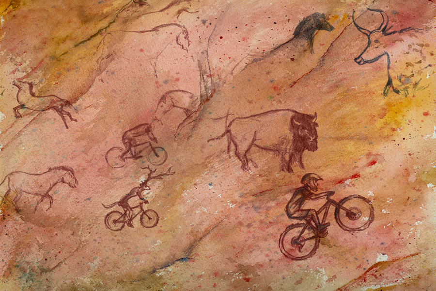 Man Cave Paintings : Man cave painting singletrack magazine