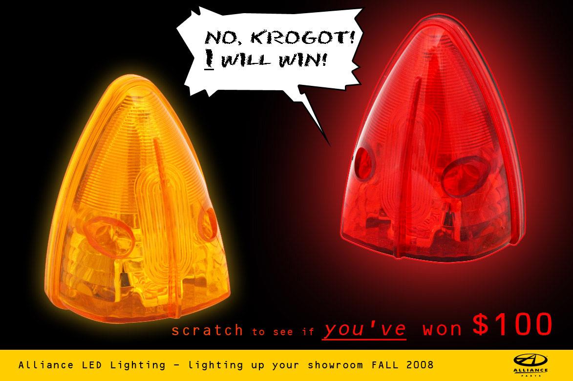 Alliance LED lighting postcard