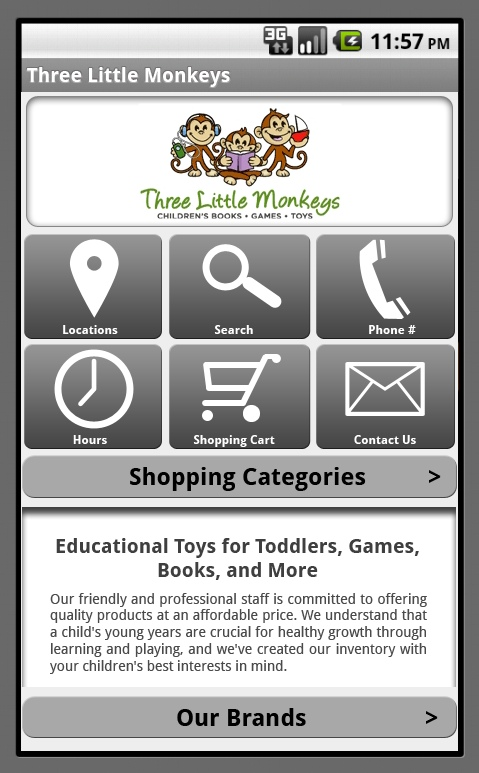 toy store mobile template info