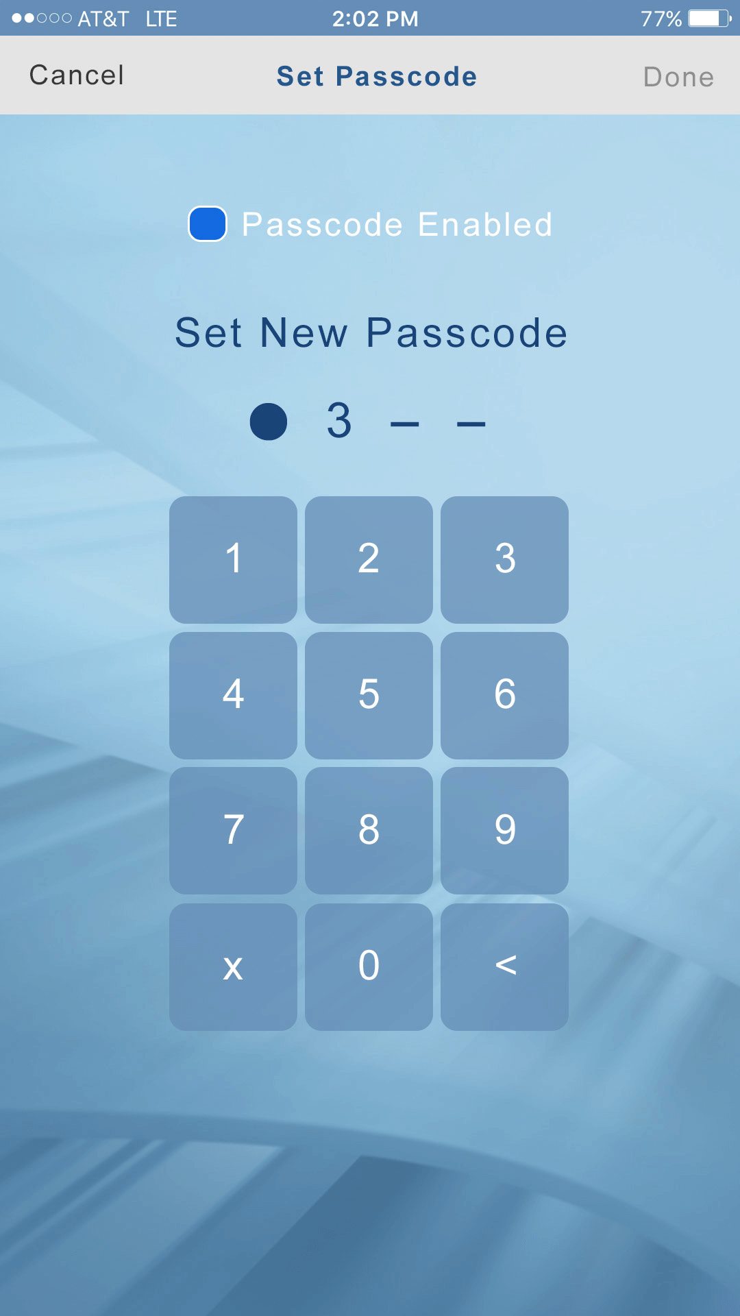 niles-passcode-screen