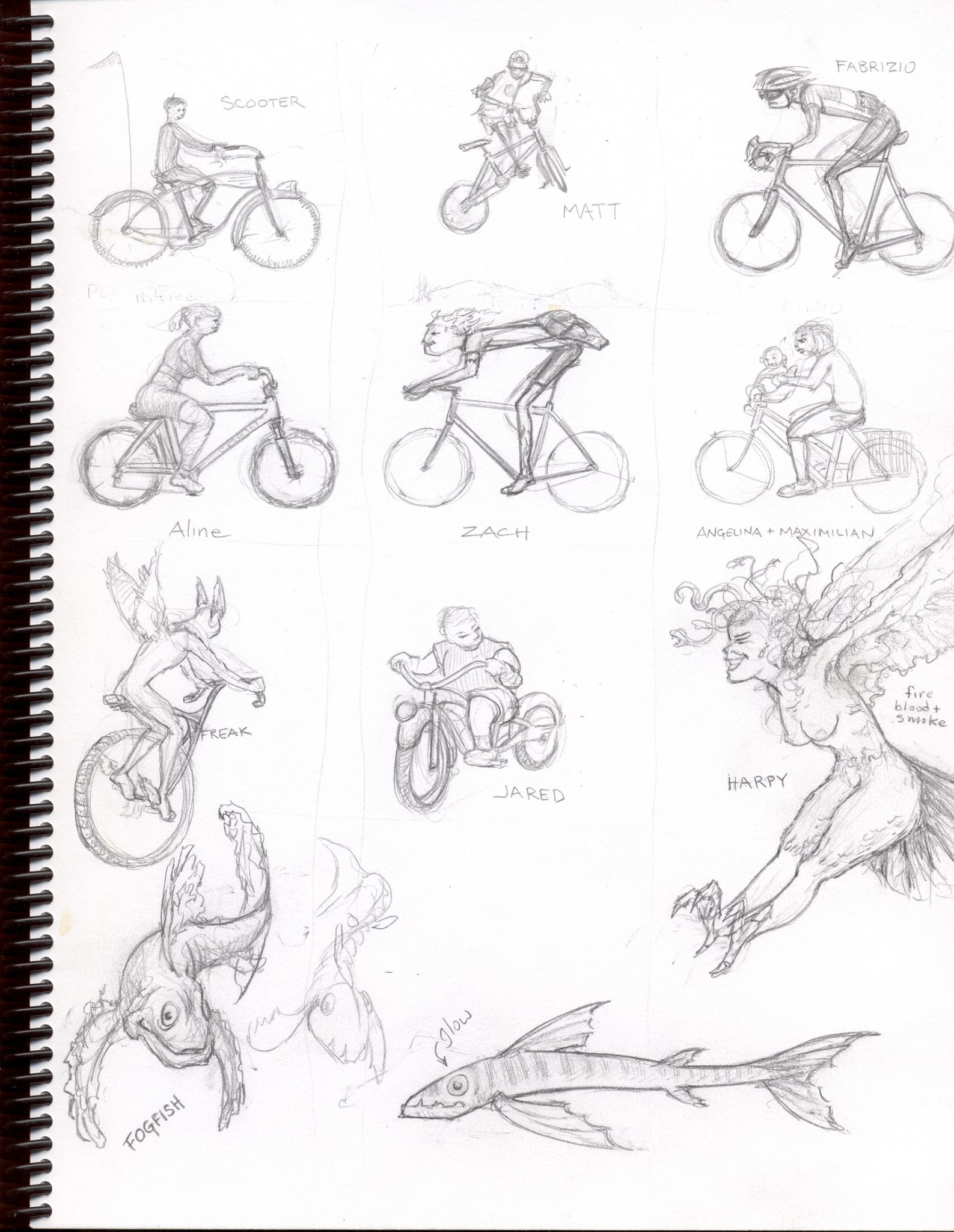 rider sketches