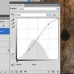 photoshop Curves layer - simple S curve