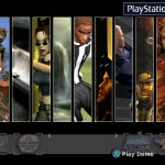 "Playstation2 kiosk and opm demo disc interface ""louvers"" design transition effect"