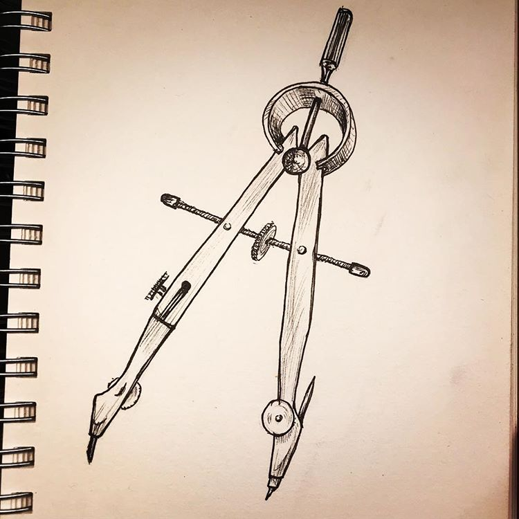 inktober2018-compass-drafting-tool