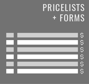 Price List + Form Design