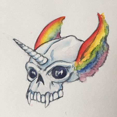 gorilla-wings-unicorn-skull