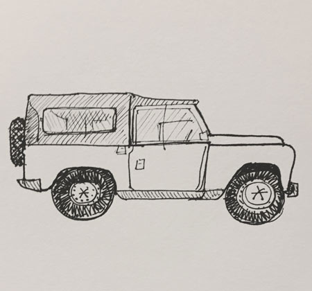 ink-drawing-landrover-defender